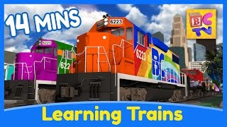 Learn the Alphabet, Colors, Shapes & Numbers | Learning Train Cartoons for Kids