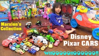 Disney Pixar CARS Collection of Marxlen. Lightning McQueen, Mater and Friends. Toy Cars and Trucks!