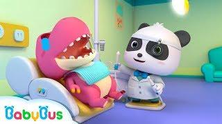 ★NEW★鱷魚寶寶愛吃糖,牙齒好痛!奇奇小牙醫快來幫幫她 | 醫院過家家兒歌 | 童謠 | 動畫 | 卡通 | 寶寶巴士 | 奇奇 | 妙妙