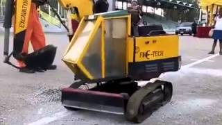 Locally made excavator by a Nigerian