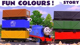 Learn Colors with Thomas and Friends and the funny Minions - Train toys for kids learning story TT4U
