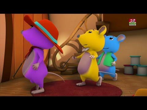 tiga tikus buta | anak-anak 3d sajak | Baby Poems | Farmees Rhymes | Kids Songs | Three Blind Mice