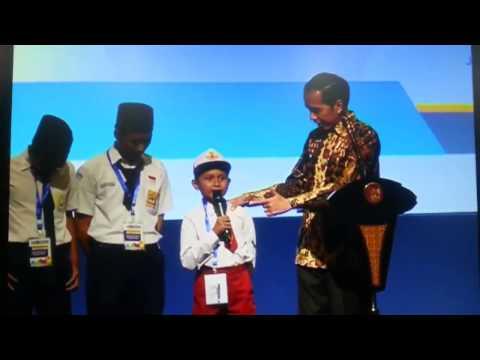 NGAKAK!!Anak SD Keceplosan Ngomong ikan Tongkol tapi jadi Ikan K*NT*L depan Jokowi