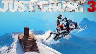 JUST CAUSE 3 Je saute de la plus HAUTE montagne avec un nouveau vehicule ! + Epic Stunt !!!