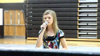 Me singing Someone Like You by Adele at my school talent show