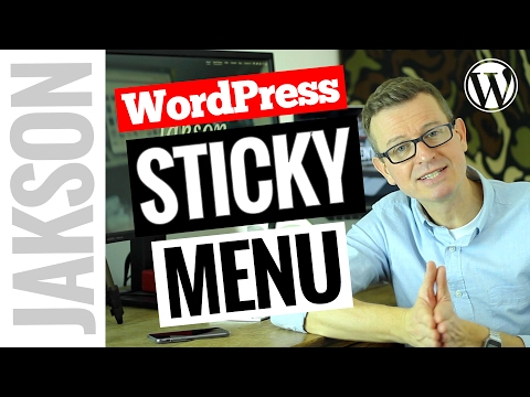 WordPress Sticky Menu - How to Add an On-Scroll Sticky Navigation Bar 2017