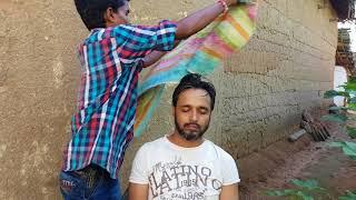 ASMR outdoor head massage in village   A MUST WATCH VIDEO