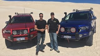 Hilux versus Ranger: ARB customised vehicles taking on the sand dunes!