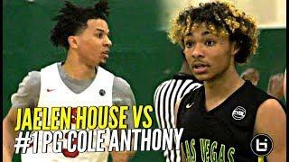 That Shadow Mountain Boy Jaelen House vs #1 PG Cole Anthony!!! ELITE PG Battle at Nike EYBL!