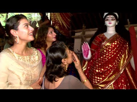 Xxx Mp4 Kajol With Mom And Sister At Durga Puja 2017 Biggest Durga Murti 3gp Sex