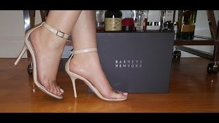 HIGH HEEL ADDICTS - BARNEY'S PVC 100mm Sandals - TRY ON