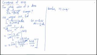 Math1014Tut3ConvergenceSeries - sum 1/(n*ln(n)^p).