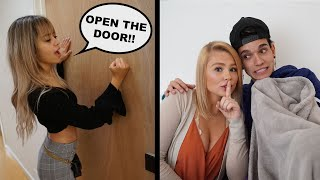 CHEATING With The Door LOCKED Prank On Girlfriend!