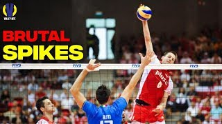 Top 25 Most Brutal Spikes ● Volleyball Satisfied Moment