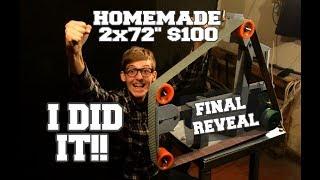 I DID IT!! Homemade 2x72 BELT GRINDER in 4 days! $100