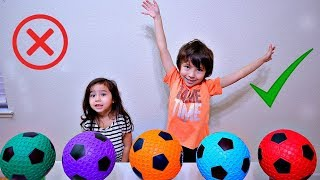 Wrong Colors Soccer Ball and Cup for Toddler and Children