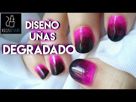 Desafío 31 días día 10 uñas degradado 31 Day Challenge Day 10 gradient effect nails