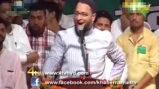 13 8 2016 Asaduddin Owaisi GRAND Public Meeting In AUDITORIUM In Lucknow