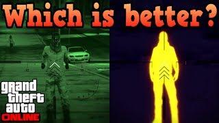 Night scope VS Thermal scope! - GTA Online
