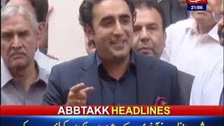 AbbTakk Headlines – 12 AM – 21 June 2019