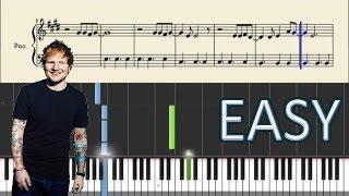 Ed Sheeran - Photograph - EASY Piano Tutorial + Sheets
