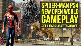 New Spider Man PS4 Trailer Shows OPEN WORLD GAMEPLAY, Side Quest Characters & More! (Spiderman PS4)