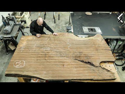 15 000 Wood Slab Kitchen Island One Man Woodworking Shop