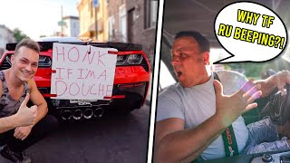 HONK PRANK ON ANGRY DAD! (Corvette Z06)