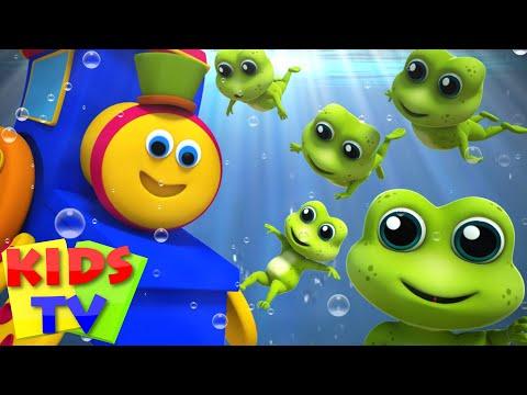 Bob The Train Five Little Speckled Frogs Nursery Rhymes Kids Songs Baby Rhymes 3D Rhymes