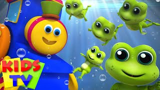 Bob The Train Five Little Speckled Frogs Nursery Rhymes Kids Songs 3D Rhymes Bob Cartoons S03EP06