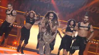 Jennifer Lopez Ft. Pitbull - Live On The Floor American Idol HD