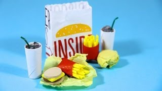How to Make Doll Fast Food - Doll Crafts