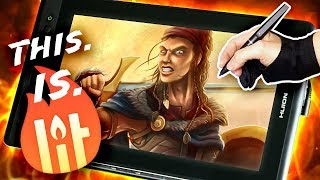 TOP SPEC PRO Digital Tablet: ROCK BOTTOM Price! -  Huion Kamvas Pro 13 Review