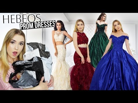 Xxx Mp4 TRYING ON HEBEOS PROM DRESSES Amazing Dresses But Shipping Issue Giveaway 3gp Sex
