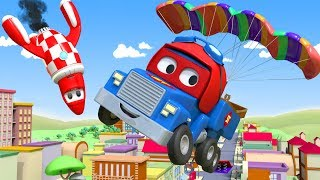 The PARACHUTE TRUCK ! - Carl the Super Truck in Car City | Children Cartoons