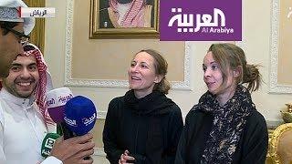 مقابلة مع الصحافيتين الفرنسيتين إثر إنقاذهما من الحوثيين