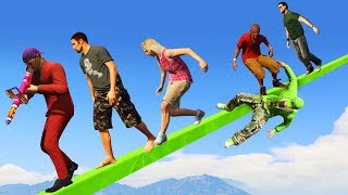 MOST IMPOSSIBLE TIGHTROPE! (GTA 5 Funny Moments)