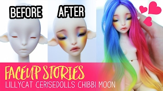 Repainting Dolls - Lillycat Chibbi Moon - Faceup Stories ep.49