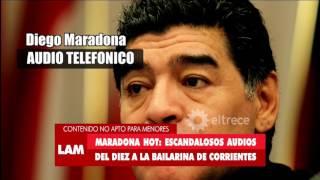 ¡El audio hot de Maradona como nunca lo escuchaste!