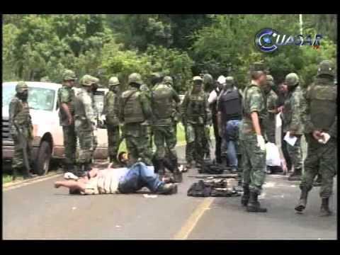 Mueren 8 criminales en intenso enfrentamiento con el ejérctio en Tacámbaro