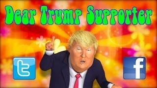 Dear Trump Supporter... (An Info Bomb/Tweaked Nipple From DC Douglas)