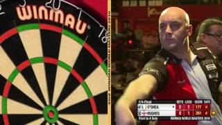 Darts World Masters 2016 Quarter Final Hughes vs O'Shea