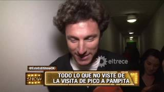 Pico Mónaco visitó a Pampita en Showmatch