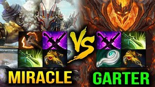 Miracle- [Juggernaut] VS Garter [Shadow Fiend] It End Too Quick Dota 2
