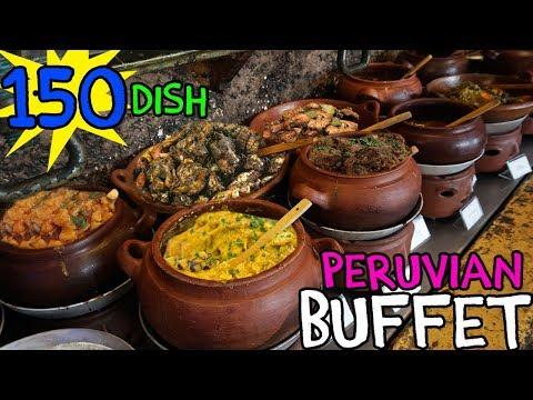 TRADITIONAL Peruvian Buffet in Lima Peru 150 Dishes
