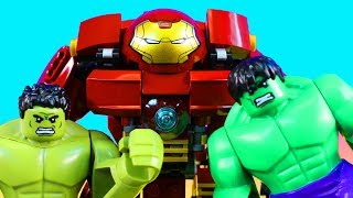 Lego Hulk Brothers Smash And Bash Battle Marvel Hulk Buster Iron Man And Ultron Prime
