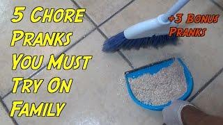 5 Chore Pranks You Must Try! (+3 Bonus Pranks) HOW TO PRANK