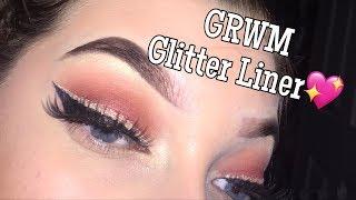 My first ever video, GRWM glitter liner!!