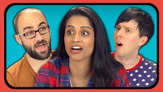 YOUTUBERS REACT TO FIVE NIGHTS AT FREDDY'S 4 TRAILER