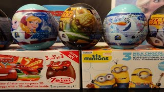 Frozen, Cars, Minions, Star Wars, 12 Kinder Surprise Eggs